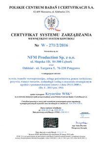 WSK certificate