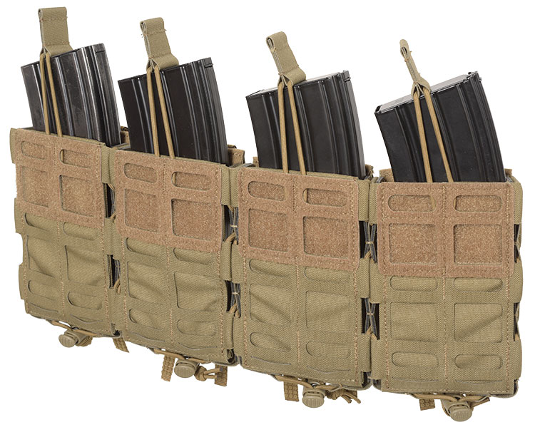 THOR Quad Modular Expandable AR/BR Mag Pouch - retention cord with pull-tab