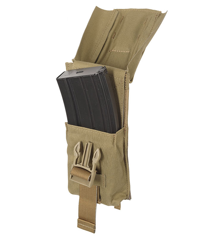 THOR Single AR Mag Pouch - full lid open