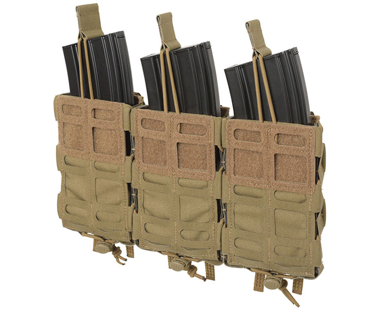 THOR Triple Modular Expandable AR/BR Mag Pouch - retention cord with pull-tab