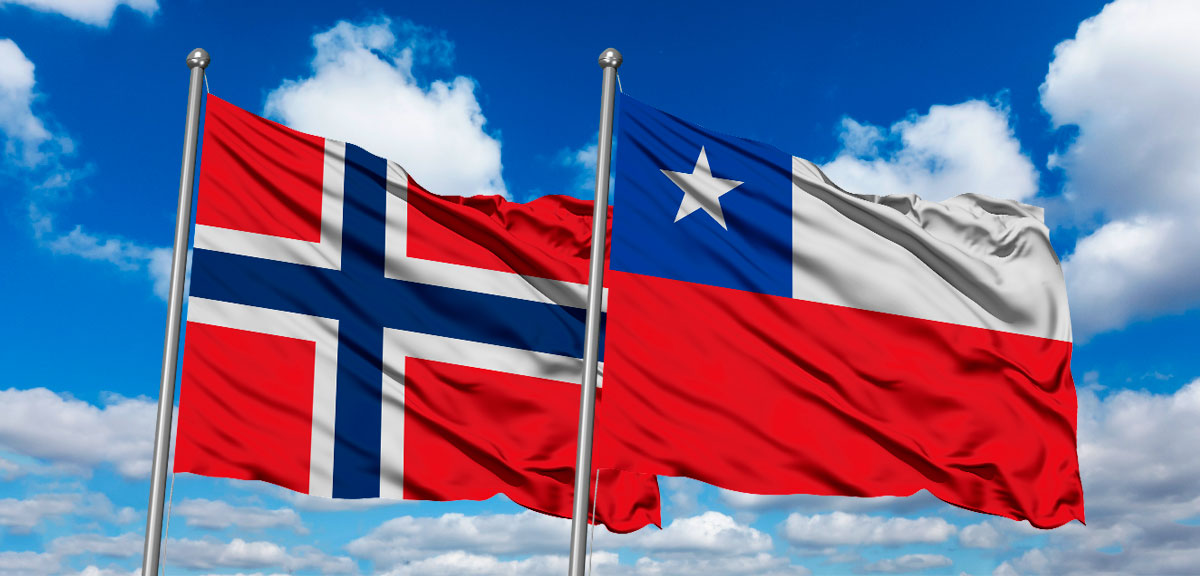 Norway and Chile flag